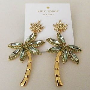 KATE SPADE Cali Dream Palm Tree Stud Earrings